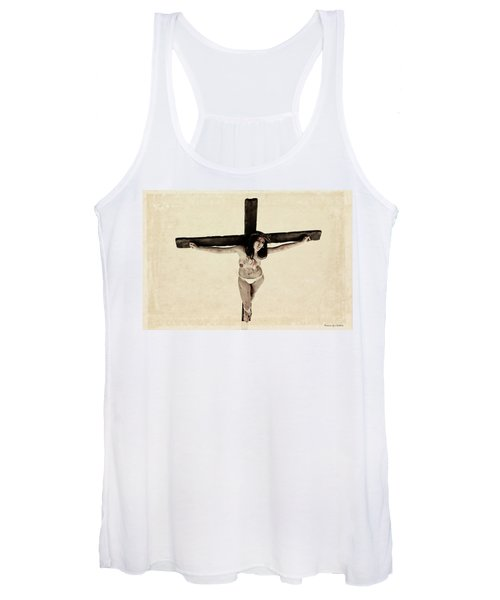 Suffering Of A Woman On Cross Women's Tank Top