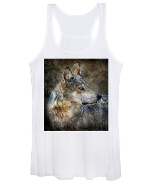 Summertime Coated Wolf Women's Tank Top