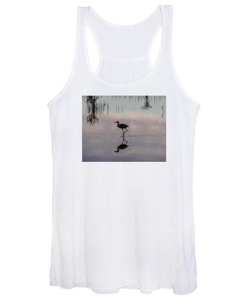 Sundown Heron Silhouette Women's Tank Top