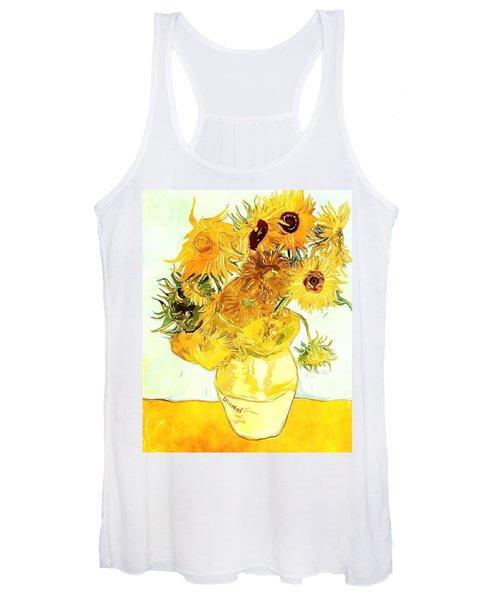 Sunflowers Van Gogh Women's Tank Top