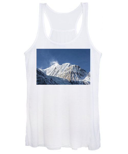 Sunrise Over The Gangapurna Peak At 7545m In The Himalayas In Ne Women's Tank Top