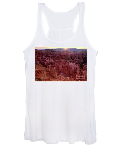 Sunrise Over The Hoodoos Bryce Canyon National Park Women's Tank Top