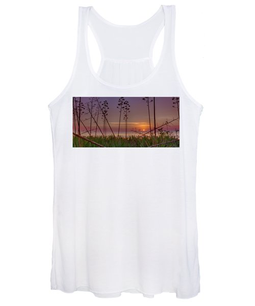 Sunrise Palm Blooms Women's Tank Top