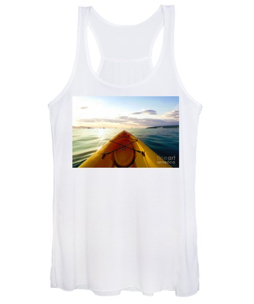 Sunrise Seascape Kayak Adventure Women's Tank Top