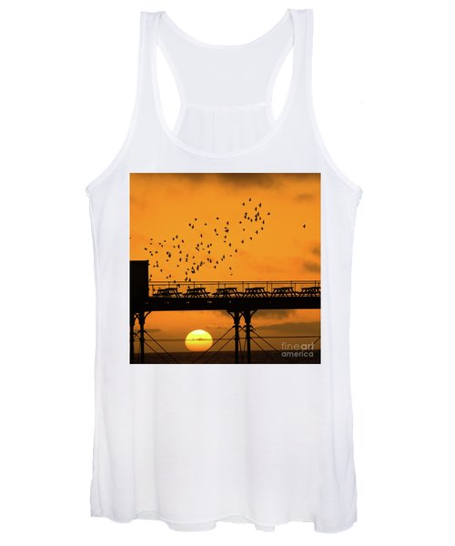 Sunset And Starlings In Aberystwyth Wales Women's Tank Top