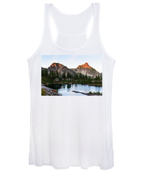 Sunset In Lila Lakes And High Box Mountain Women's Tank Top
