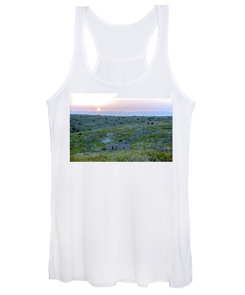 Sunset Over A 2000 Years Old Village Women's Tank Top