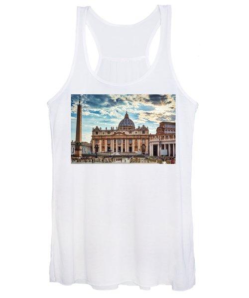 Sunset Over The Papal Basilica Of Saint Peter Women's Tank Top