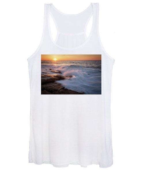 Sunset Waves Rockport Ma. Women's Tank Top