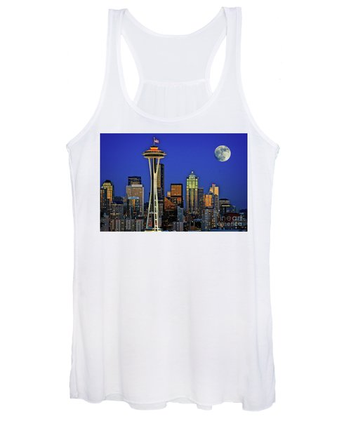 Super Moon Over Seattle Women's Tank Top