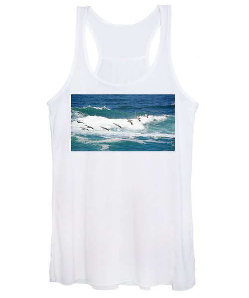 Surf And Pelicans Women's Tank Top