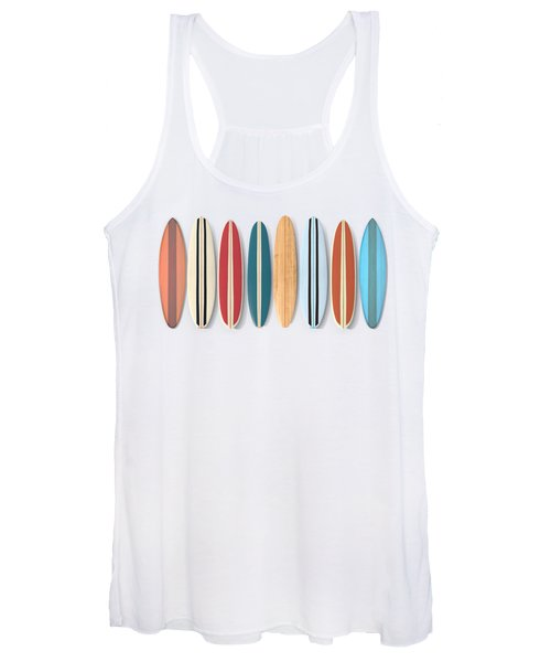 Surf Boards Row Women's Tank Top