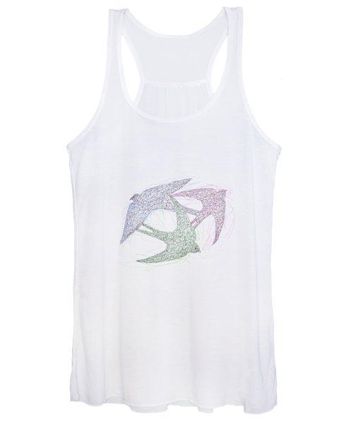Swallow Birds Motion Design  Women's Tank Top
