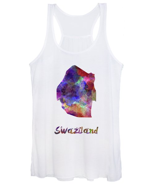 Swaziland In Watercolor Women's Tank Top
