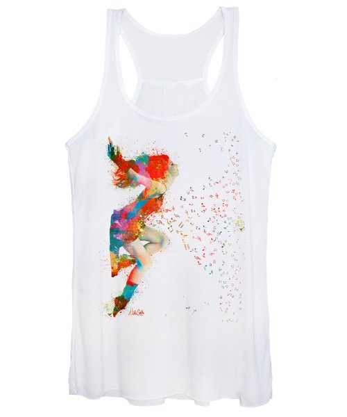 Sweet Jenny Bursting With Music Women's Tank Top