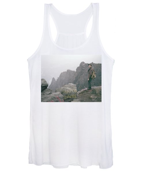 T-04701 Fred Beckey On Mt. Si 1958  Women's Tank Top