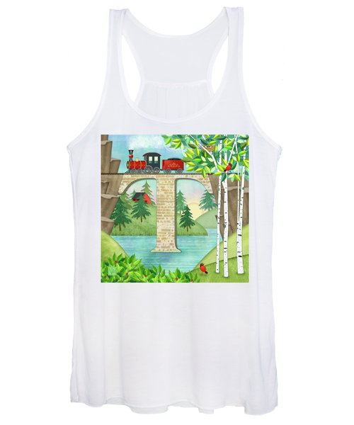 T Is For Train And Train Trestle Women's Tank Top