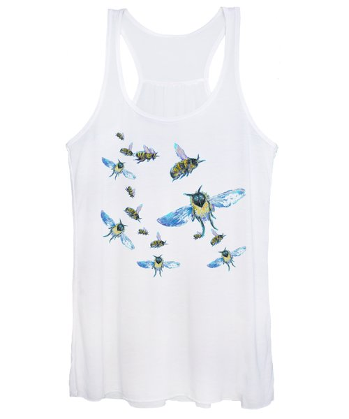T-shirt With Bees Design Women's Tank Top