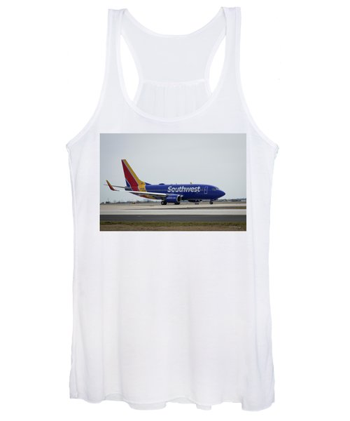 Take Off Southwest Airlines N7878a Hartsfield-jackson Atlanta International Airport Art Women's Tank Top