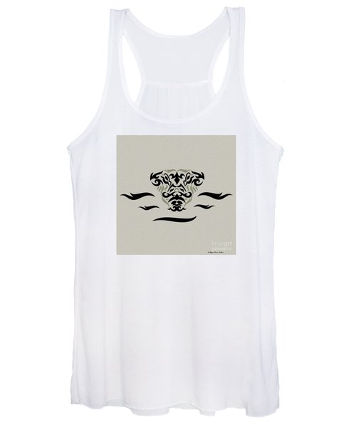 Tan Tribal Gator Women's Tank Top
