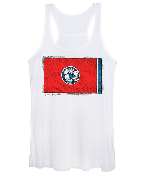 Tennessee Bathroom Flag Women's Tank Top