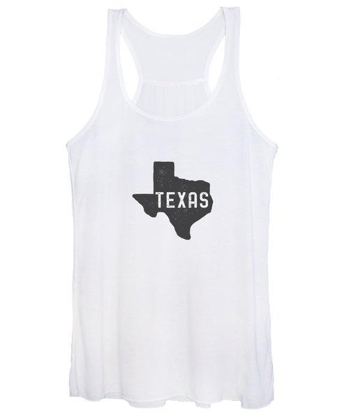 Texas Map Tee Women's Tank Top