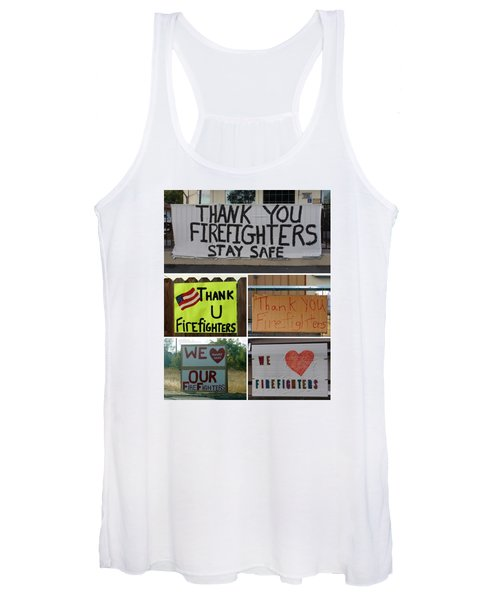 Thank You Firefighters Collage Women's Tank Top