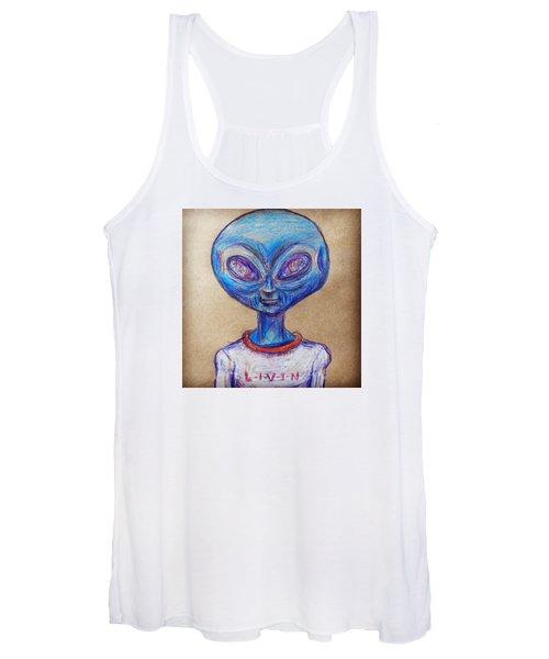 The Alien Is L-i-v-i-n Women's Tank Top