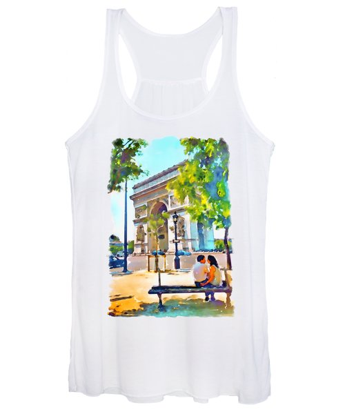 The Arc De Triomphe Paris Women's Tank Top