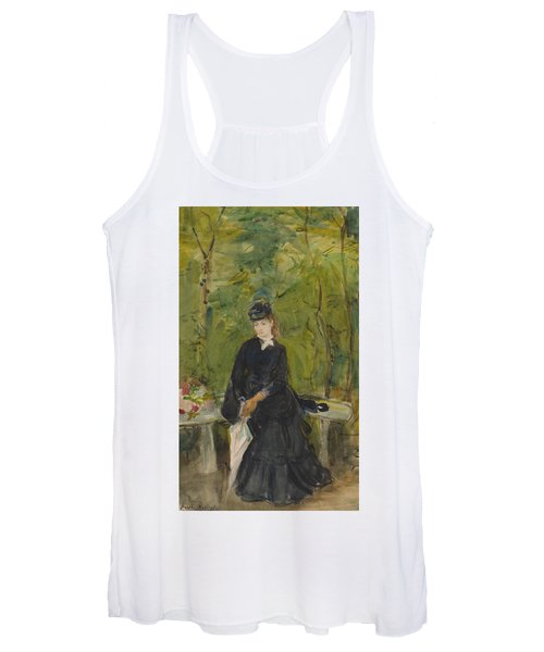The Artist's Sister Edma Seated In A Park Women's Tank Top