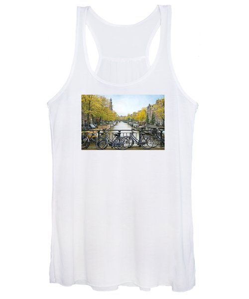 The Bicycle City Of Amsterdam Women's Tank Top