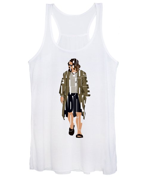 The Big Lebowski Inspired The Dude Typography Artwork Women's Tank Top