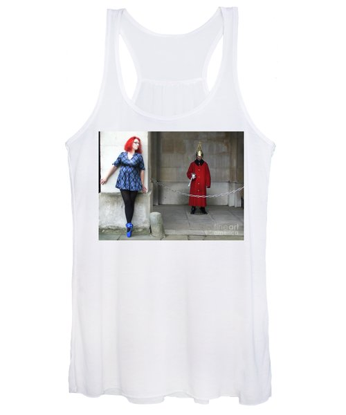 The Blue Ballet Shoes Hide From The Queen's Guard Women's Tank Top