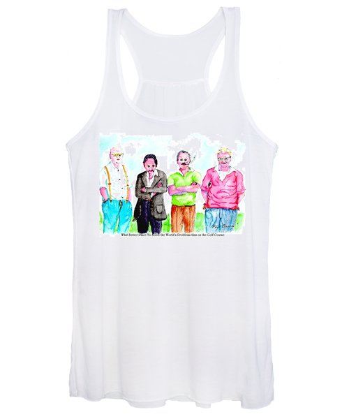 The Golf Course, A Place For Solving Problems Women's Tank Top