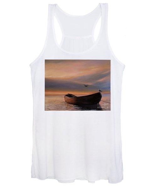 A Lone Boat Women's Tank Top
