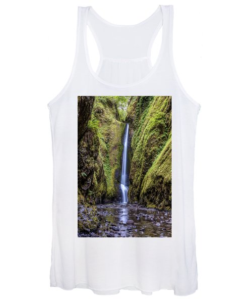 The Lush And Green Lower Oneonta Falls Women's Tank Top
