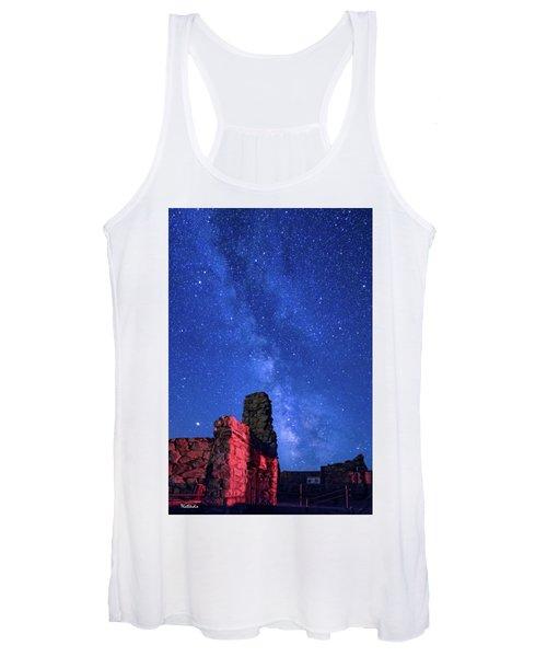 The Milky Way Over The Crest House Women's Tank Top
