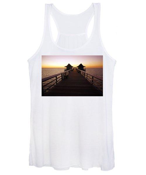 The Naples Pier At Twilight - 01 Women's Tank Top