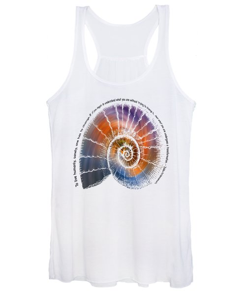 The Nautilus Shell Transparent -  Quote Women's Tank Top