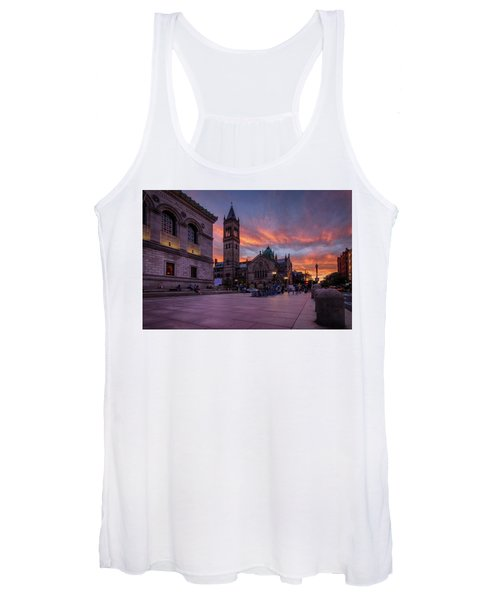 The Old South Church At Sunset Women's Tank Top