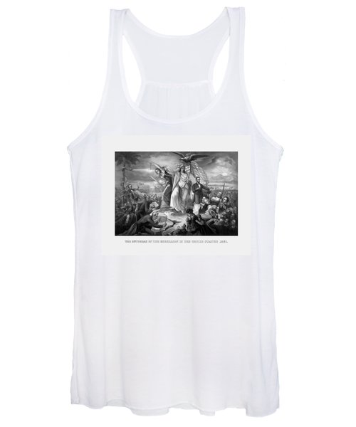 The Outbreak Of The Rebellion In The United States Women's Tank Top