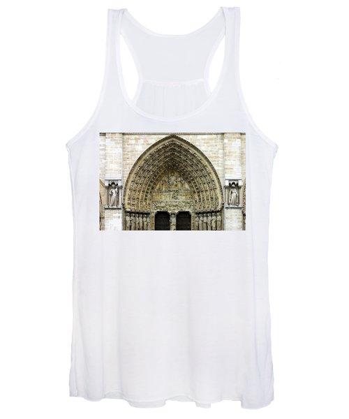 The Portal Of The Last Judgement Of Notre Dame De Paris Women's Tank Top