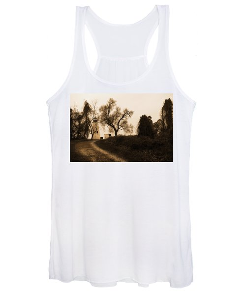 The Road To Turkey Point Lighthouse Women's Tank Top