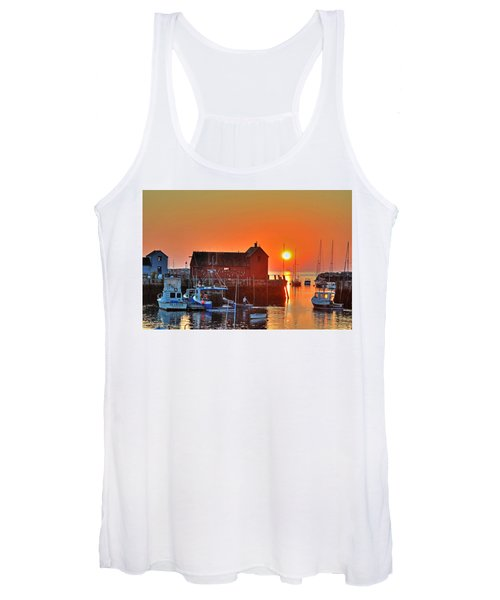 The Sun Rising By Motif Number 1 In Rockport Ma Bearskin Neck Women's Tank Top