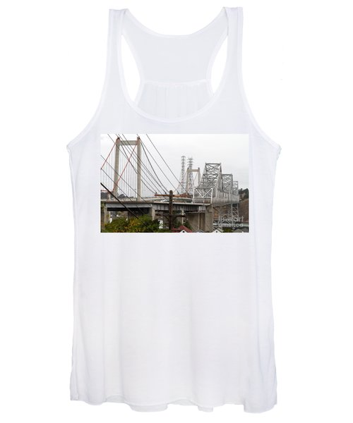 The Two Carquinez Bridges At Crockett And Vallejo California . Aka Alfred Zampa Memorial Bridge . 7d8919 Women's Tank Top