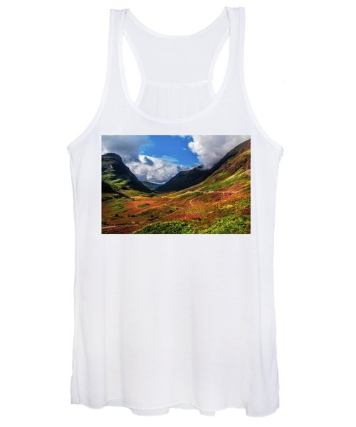 The Valley Of Three Sisters. Glencoe. Scotland Women's Tank Top
