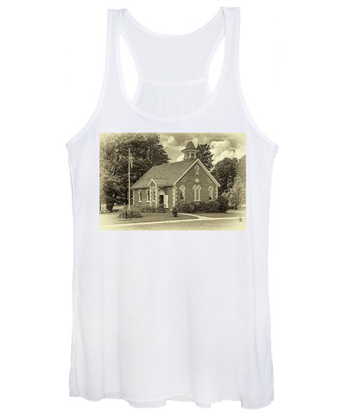 The Way We Were - One Room School House - Sepia Women's Tank Top