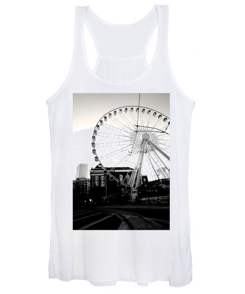 The Wheel Black And White Women's Tank Top