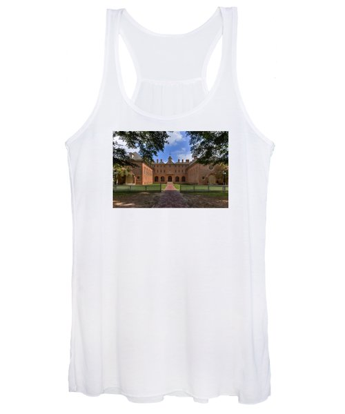The Wren Building At William And Mary Women's Tank Top