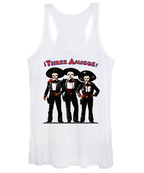 Three Amigos - Day Of The Dead Women's Tank Top